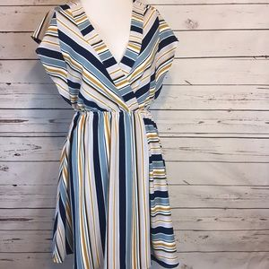 Monteau Los Angels | Striped  Dress | Large